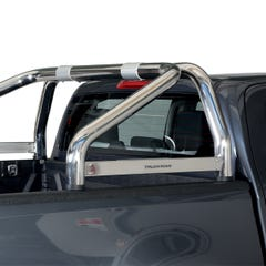 Roll Bar SINGLE 76mm Stainless Steel for Toyota Hilux Mk8 (16 on)