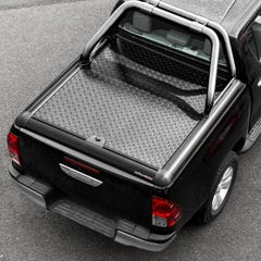 Truckman Black Aluminium Lift-Up Tonneau Cover & Sports Roll Bar Toyota Hilux Mk6 (2006 - 2016) Extra Cab