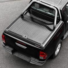 Truckman Black Aluminium LiftUp Tonneau Cover & Rollbar Hilux Mk8 (16 on) EC