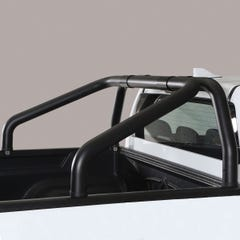 Roll Bar Design SINGLE 76mm Black Mach for Volkswagen Amarok Mk1 & 2 (10 on)