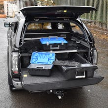 Decked Twin Drawer Storage System Nissan Navara D40 (2005 - 2015) Double Cab