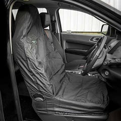 Hi Back Seat Covers Set Black Front & Rear (one piece)