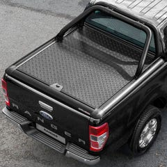 Truckman Black Aluminium LiftUp Tonneau Cover & Rollbar Ranger Mk5-7 (12 on) EC