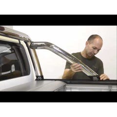 Mountain Top Black Rollbar to fit MT Roller Tonneau Ssangyong Musso Mk3 (18 on)