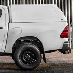 Truckman RS Hardtop Canopy (Solid Rear) Toyota Hilux Mk8-9 (2016 Onwards) Double Cab, Ladder Rack