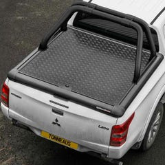 Truckman Black Aluminium Lift-Up Tonneau Cover & Sports Roll Bar Mitsubishi L200 Mk8-9 (2015 Onwards) Double Cab