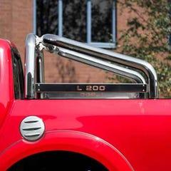 Roll Bar SINGLE 76mm SS Truckman Plate Mach for L200 Mk8-9 (15 on) DC