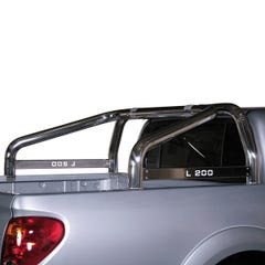Roll Bar SINGLE 76mm SS L200 Name Plate Mach for L200 Mk7 (10 on) ECab
