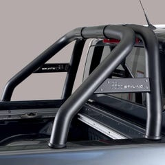 Roll Bar SINGLE 76mm Design Black SS with Plate Mercedes X Class 18on