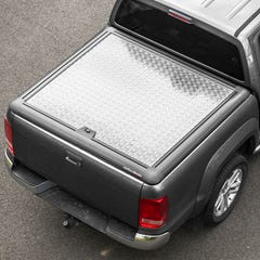 Truckman Silver Aluminium Lift-Up Tonneau Cover Toyota Hilux Mk8-9 (2016 Onwards) Double Cab