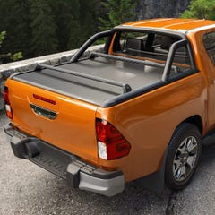 Mountain Top Evo-M Black Roller Tonneau Cover Toyota Hilux Mk8-9 (2016 Onwards) Double Cab