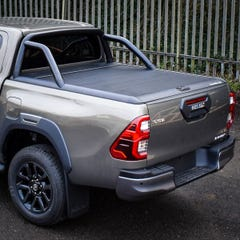 Mountain Top Black Roller Tonneau Cover Toyota Hilux (2016 Onwards) Extra Cab