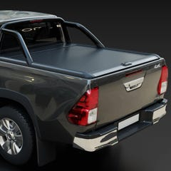 Mountain Top Black Roller Tonneau Cover Toyota Hilux Mk6-7 (2005 - 2016) Double Cab