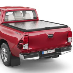 Mountain Top 2 Chequer Plate Lift Up Tonneau Cover Toyota Hilux Mk8-9 (2016 Onwards) Double Cab, No Ladder Rack