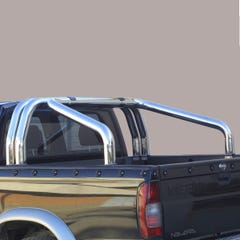 Roll Bar DOUBLE 76mm Stainless Mach for Nissan D22 Mk2 (02 on)