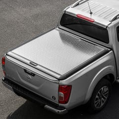 Mountain Top Style Lift Up Solid Chequer Plate Tonneau Cover Nissan Navara NP300 (2016 Onwards) Extra Cab