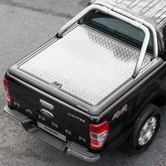 Truckman Silver Aluminium Lift Up Tonneau Cover & Rollbar Ranger Mk5-7 (12on) DC