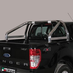 Roll Bar SINGLE 76mm SS for Ford Ranger with Plate Ranger Mk5 (12 on)