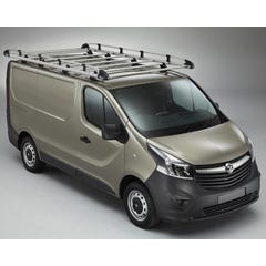 Rhino Aluminium Roof Rack Vauxhall Vivaro Mk3 (2014 - 2019) SWB, Low Roof, Twin Doors