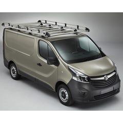 Rhino Aluminium Roof Rack Vauxhall Vivaro Mk3 (2014 - 2019) SWB, High Roof, Twin Doors