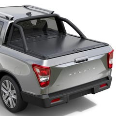 Mountain Top Black Roller Tonneau Cover Ssangyong Musso (18 on) DC