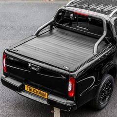 Truckman Retrax Tonneau Cover + Black Roll Bar Isuzu D-Max (2012+) Double Cab