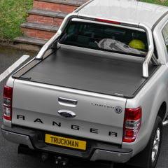 Truckman Retrax Roller Shutter Tonneau Cover & Steel Roll Bar Ford Ranger Mk5-7 (2012 Onwards) Double Cab