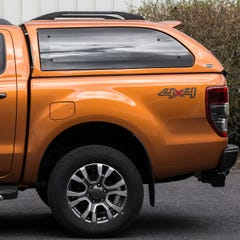 Truckman Grand Hardtop Canopy (Roof Bars) Ford Ranger Mk5-7 (2012 Onwards) Double Cab