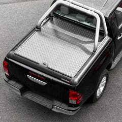 Truckman Silver Aluminium Lift-Up Tonneau Cover & Sports Roll Bar Nissan Navara D40 (2005 Onwards) Double Cab