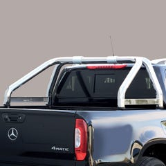 Roll Bar SINGLE 76mm SS with Styling Plate Mach for Nissan D40/Navara