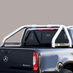 Roll Bar SINGLE 76mm SS 'Styling' Plate Mach for Toyota Hilux Mk6 / Vigo