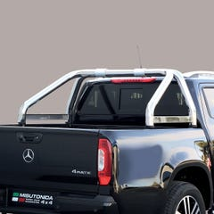 Roll Bar SINGLE 76mm SS with Plate for Mercedes X Class (18 on)