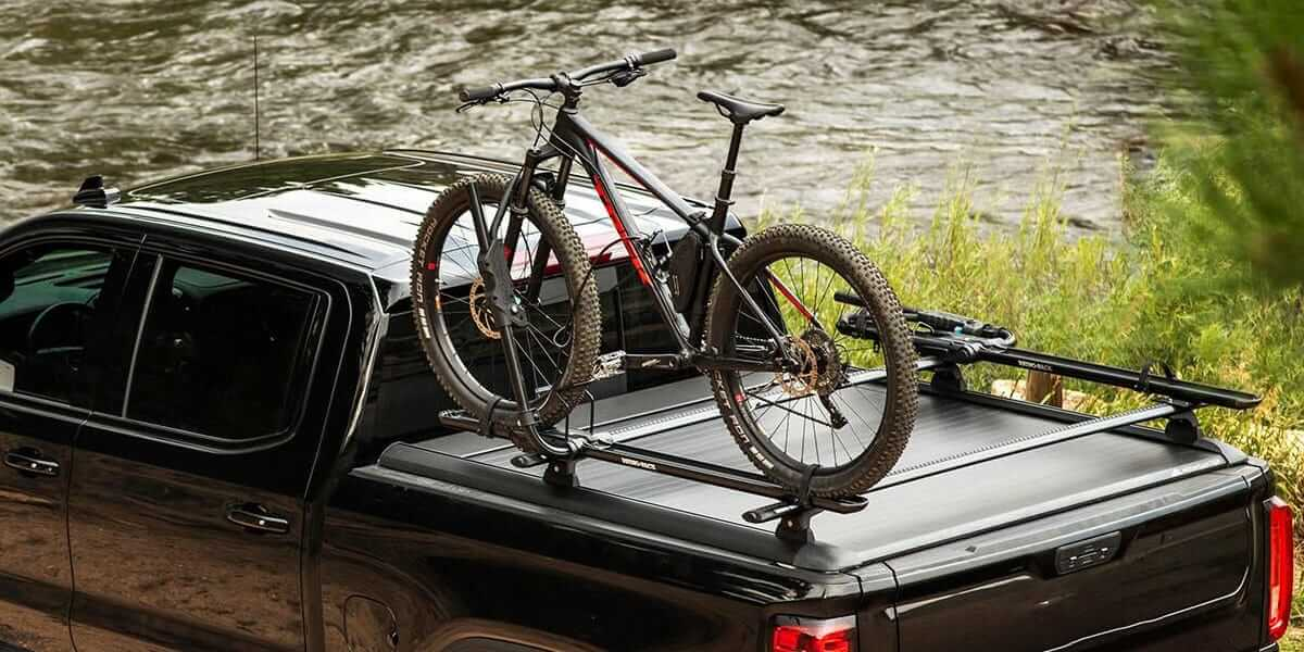 Mountain Top Cargo Carriers with fixed bike on top