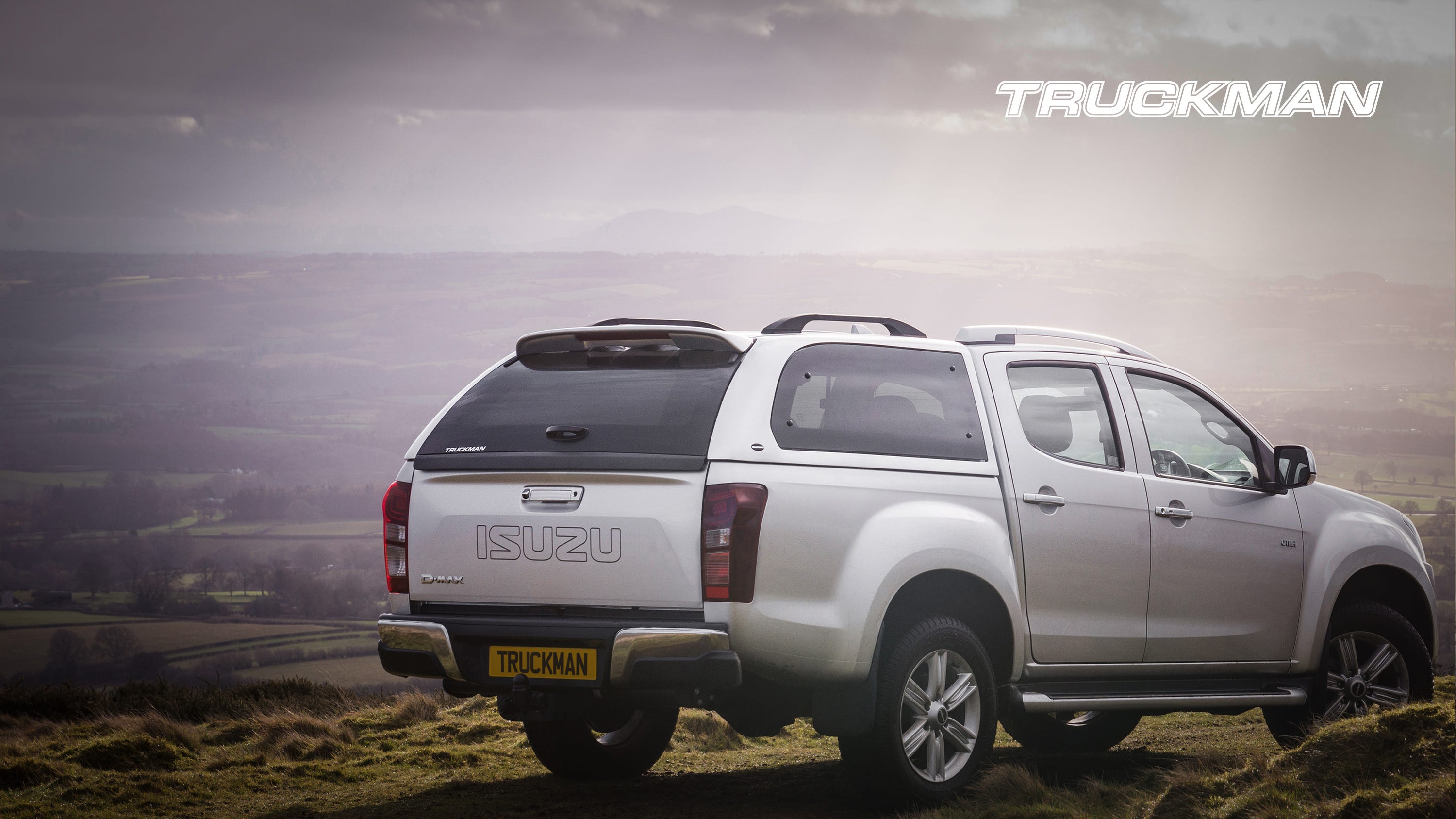 Isuzu D-Max Double Cab Fitted With a Truckman Grand Hardtop Canopy (Landscape)