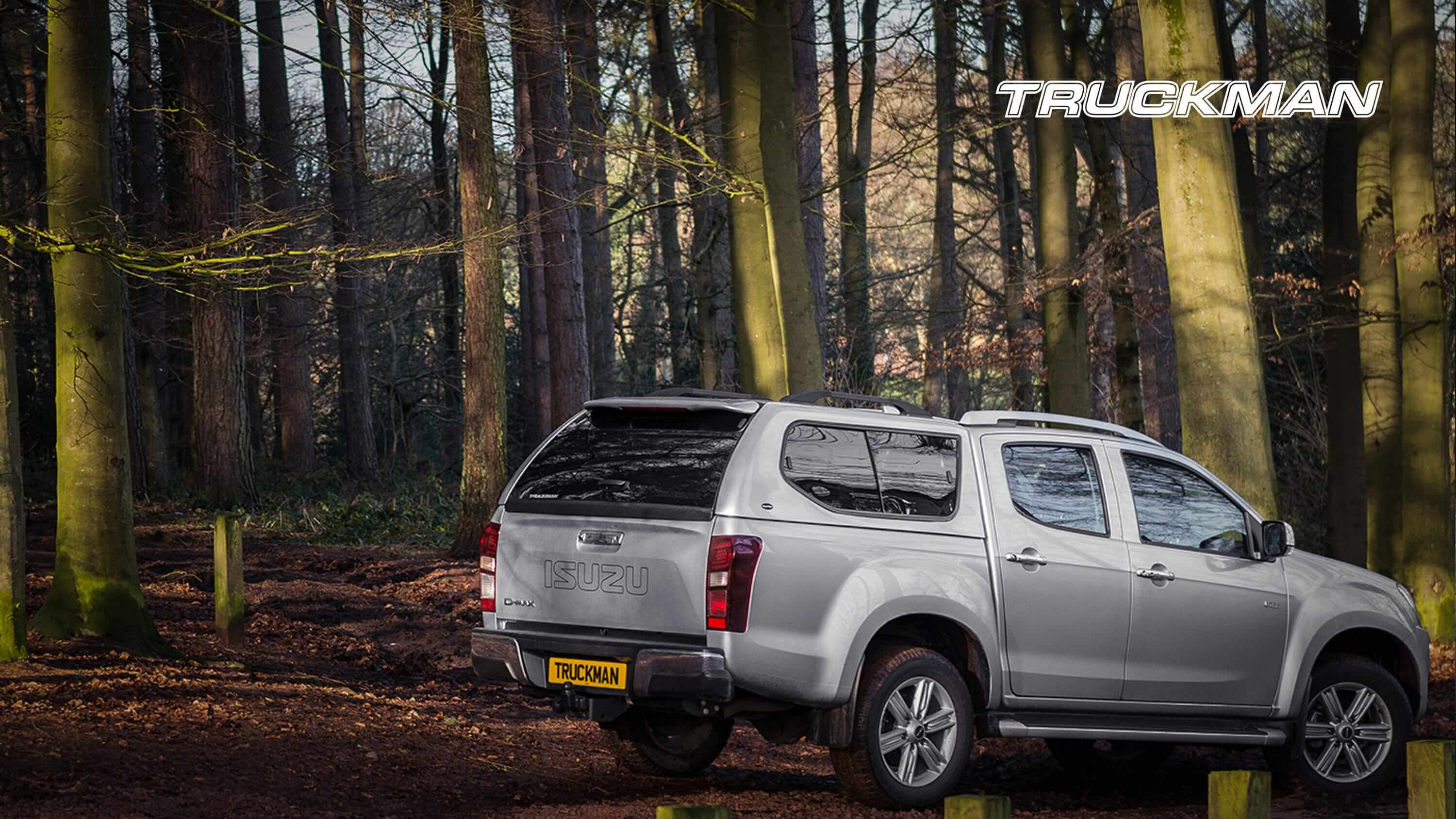 Isuzu D-Max Double Cab Fitted With a Truckman GLS Hardtop Canopy (Landscape)