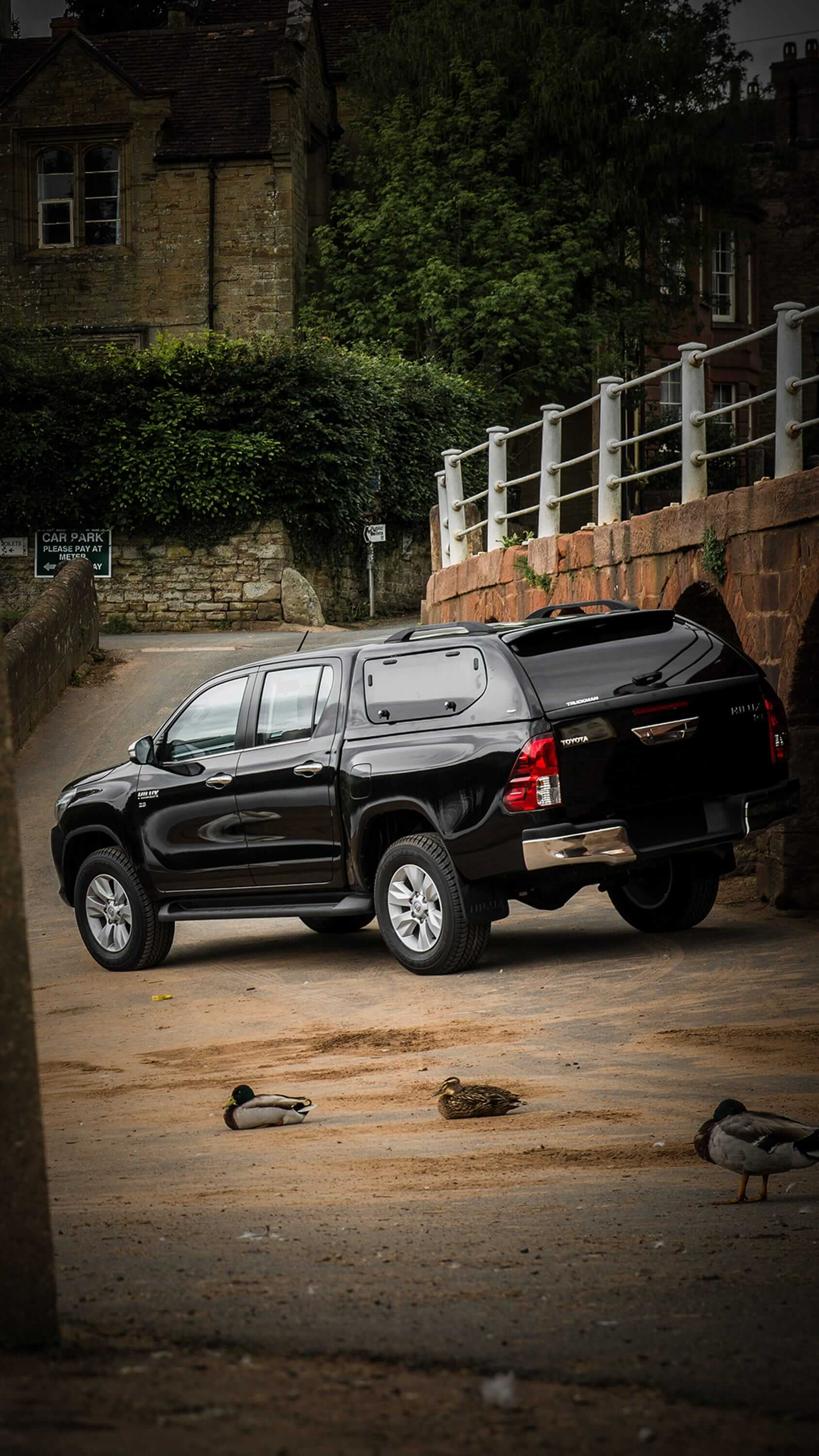 Toyota Hilux Double Cab Fitted With a Truckman S-Series Hardtop Canopy (Portrait)