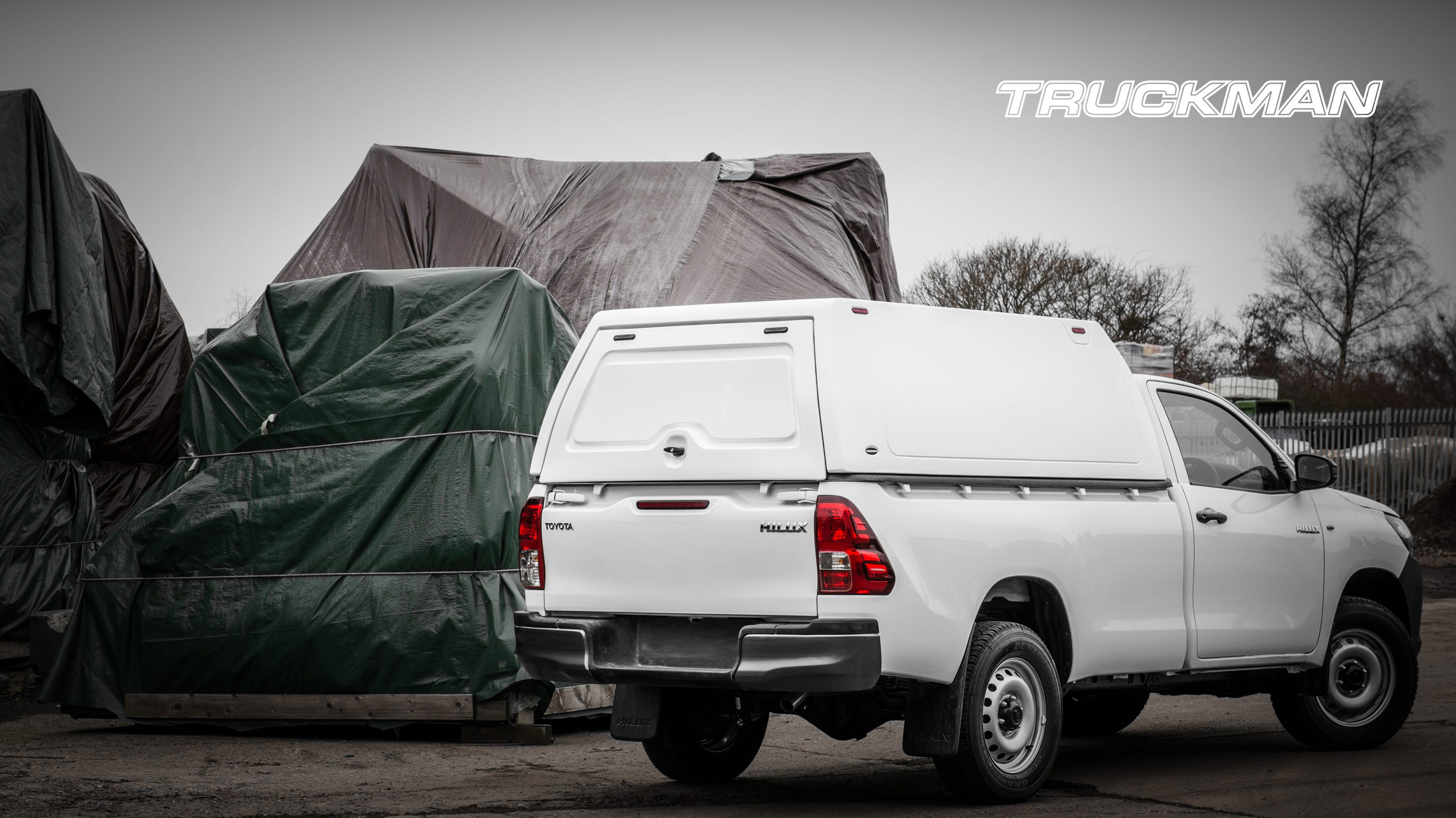 Toyota Hilux Single Cab Fitted With a Truckman Classic Hardtop Canopy (Landscape)