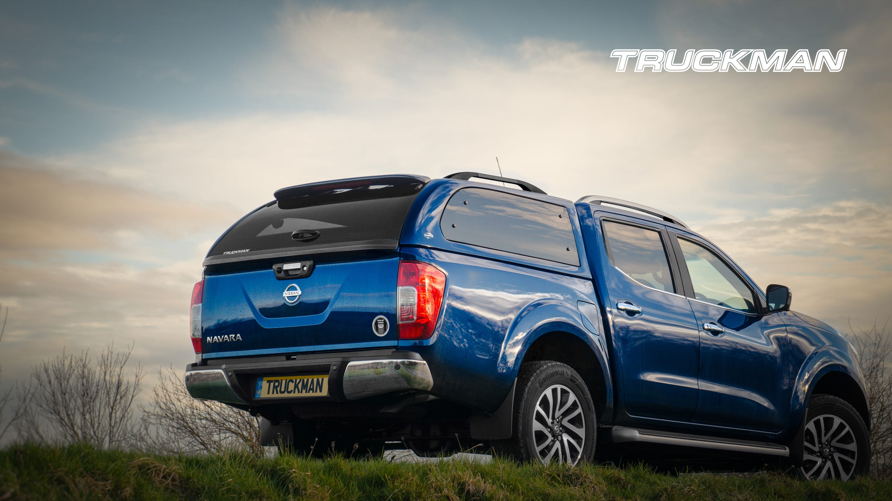 Nissan Navara Fitted With a Truckman Grand Hardtop Canopy (Landscape)