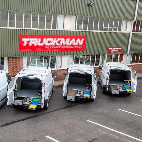 Fleet of Vans with Aluca Racking