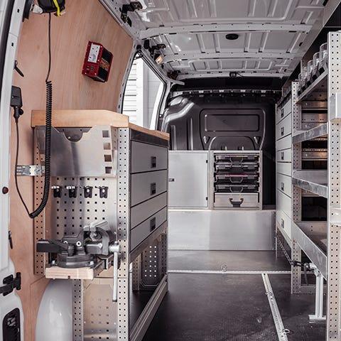 Interior of Van with Aluca Racking